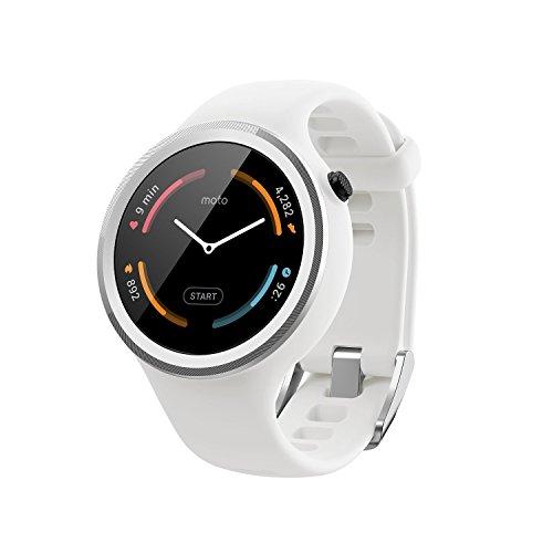 【第2世代】Moto 360 2nd Gen 2015 Smart Watch スマートウォッチ 腕時計 Android Wear iOS対応 (Moto 360 Sport ホワイト) [並行輸入品]