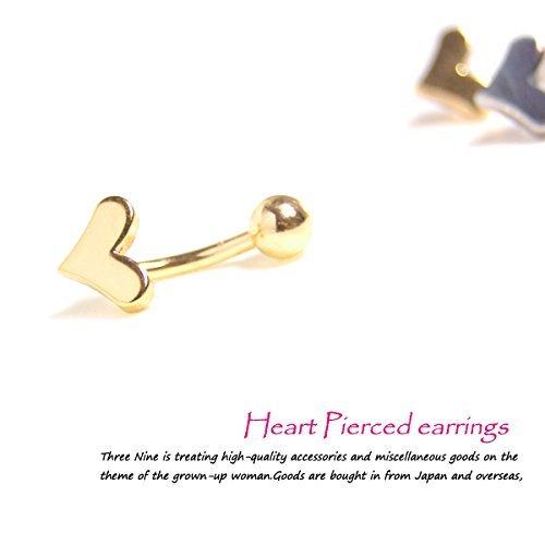 [해외](쓰리 나인) 14G 하트 바디 피어싱 바나나 바벨 배꼽 귀 겸용 한쪽 귀 피어싱 TBP019/(Three Nine) 14G Heart Body Piercing Banana Bell Bell Belly Ear Dual Earring Earrings TBP 019