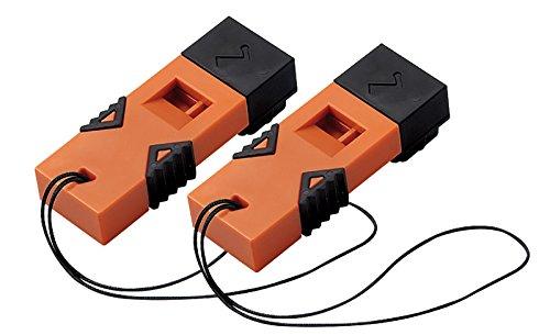 コクヨ 防災用救助笛 防災の達人 ツインウェーブ 2個セットオレンジ DRK-WS1YRX2
