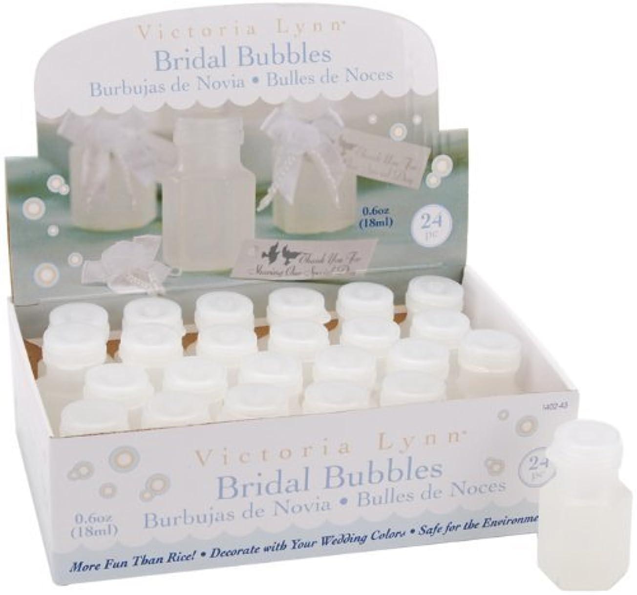 後方に環境保護主義者誕生ブライダル泡 0.5 オンス ボトル 24 枚入り-