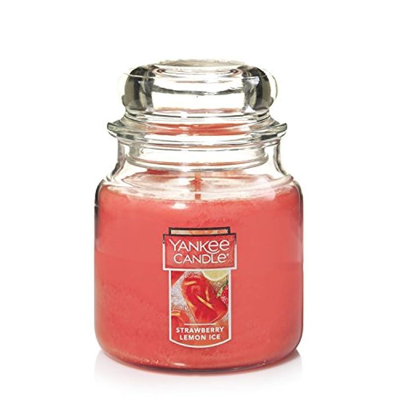 腸収入ハブブYankee Candleキャンドル ストロベリ?レモンアイス Medium Jar Candle 1351665Z
