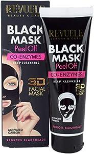 Revuele Black Peel-Off Mask - Co-Enzymes, 80ml