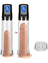 Risareyi 男性の自動真空ポンプ、男性用の再利用可能なスリーブ、RealisitcPenǐsエクステンダー拡大6おもちゃ 大人のおもちゃ