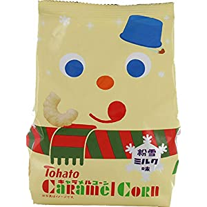 東ハト キャラメルコーン粉雪ミルク味(クリスマス) 77g×12袋