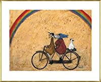 ポスター サム トフト Somewhere under a Rainbow 額装品 アルミ製ベーシックフレーム(ゴールド)