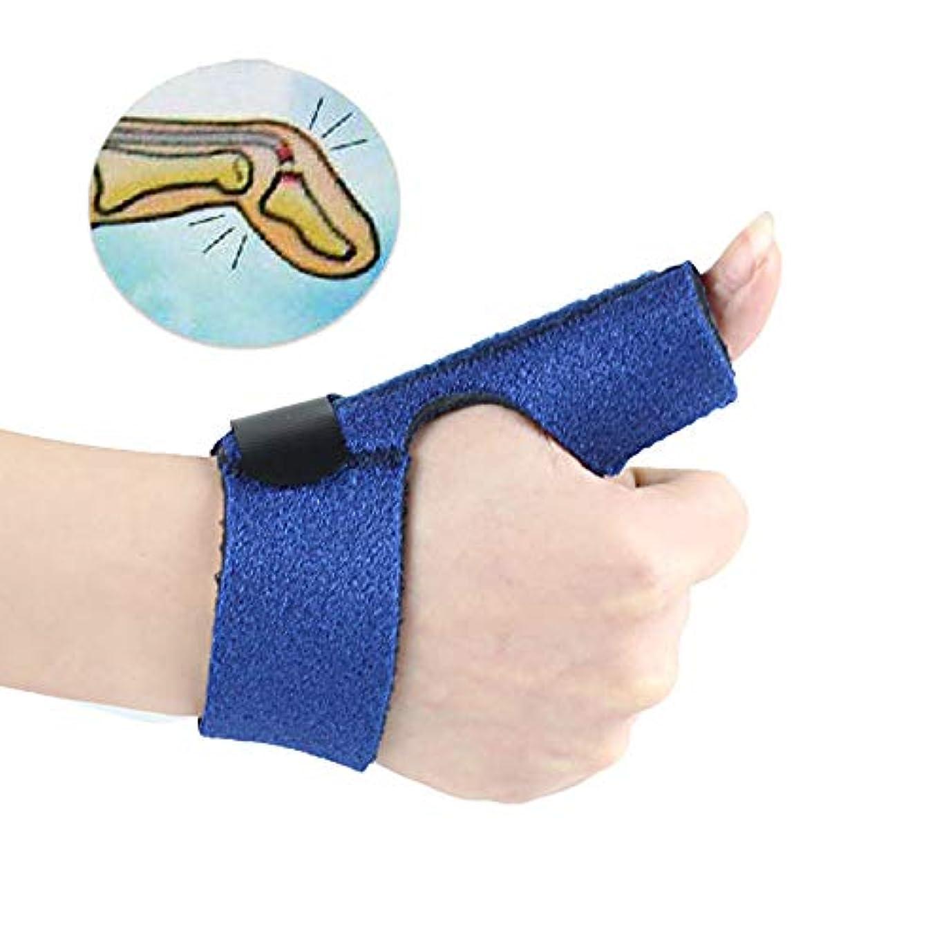 箱持っている悪質なトリガーフィンガースプリント調整可能なプロテクターフィンガーサポートブレーススプリント、指の痛みを軽減するための内蔵アルミニウムサポート
