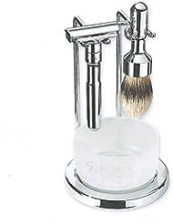ゾーリンゲン メルクール 髭剃り カミソリ シェービング FUTUR 701C 4点セット、ポリッシュプレミアムクロムメッキ、替刃10枚付