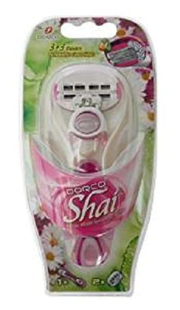 の面では自動的に寝室DORCO ドルコ Shai3+3 女性用替刃式 カミソリ3+3枚刃 本体