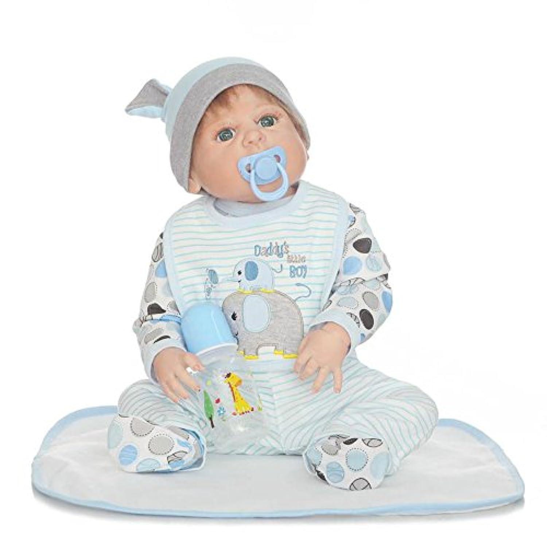 Reborn Baby Boy解剖学的に正しい人形フルボディシリコンリアルな22インチビニールReal Born人形磁気おしゃぶり子供おもちゃ