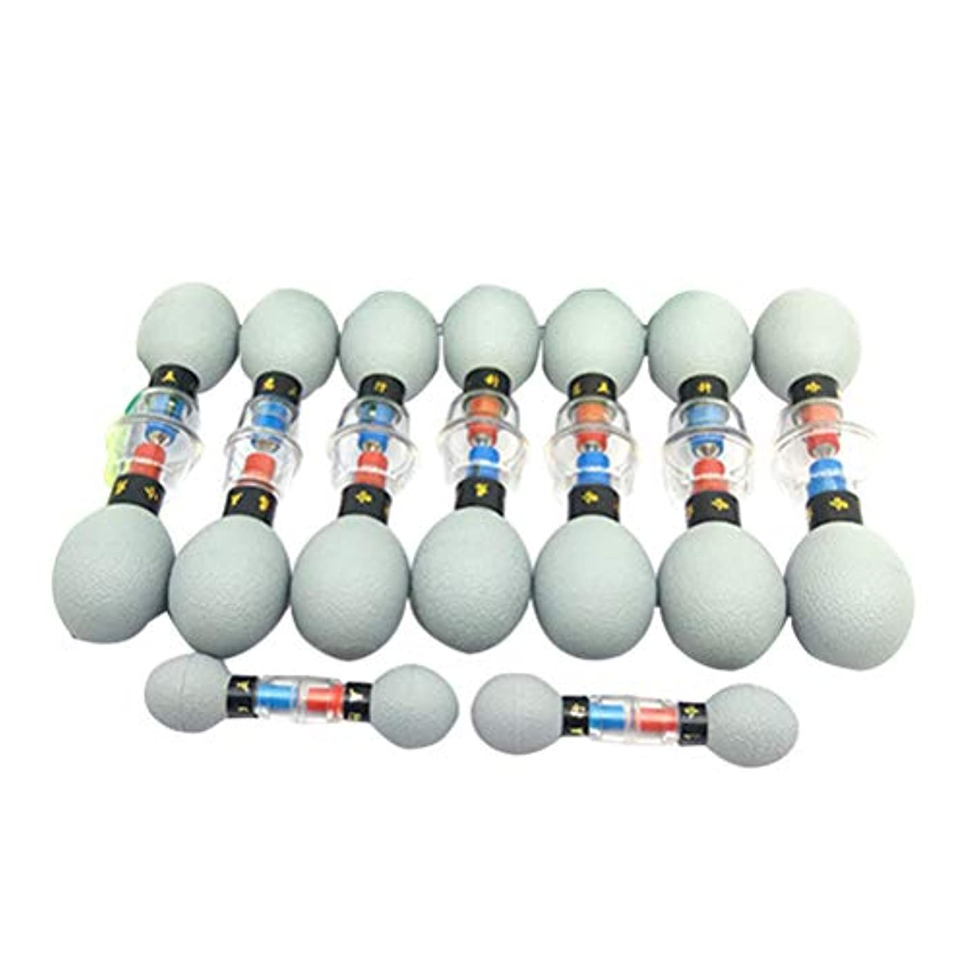 湿原レビュアーぴかぴかSUPVOX 中国のバイオ磁気カッピング療法セット真空吸引カッピング指圧療法ツール用痛み緩和18ピース