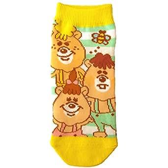 キャラクターソックス クマタン靴下 トリオ グリーン・イエロー 22cm~24cm KTSOC07J