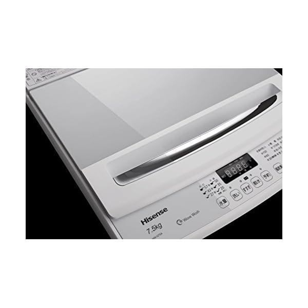 ハイセンス 7.5kg 最短10分で洗濯できる...の紹介画像2