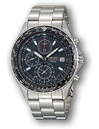 セイコー 逆輸入モデル SEIKO パイロット クロノグラフ 100m防水 ブラック SND253P1(SND253PC) メンズ 腕時計 時計