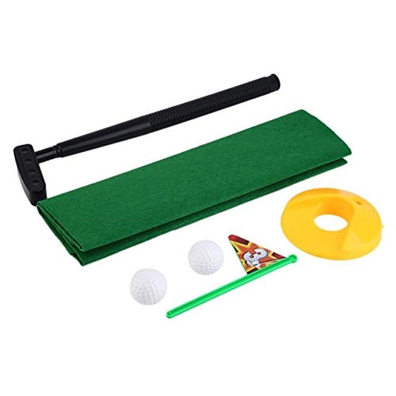 ブリリアント完了昆虫おかしいトイレパタートイレ時間ミニセットトイレゴルフゲームノベルティギャグギフト玩具マットパッティングゴルフトレーニング&練習を向上させるのに役立ちます - グリーン