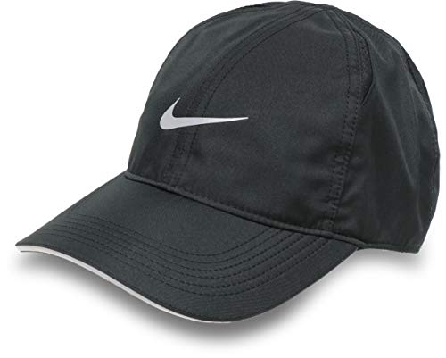 ナイキ キャップ 帽子 ドライフィット 軽量 薄手 ランニング ジョギング 無地 ブラック 白 メンズ レディース 男女兼用/ラン フェザーライト キャップ AR1998