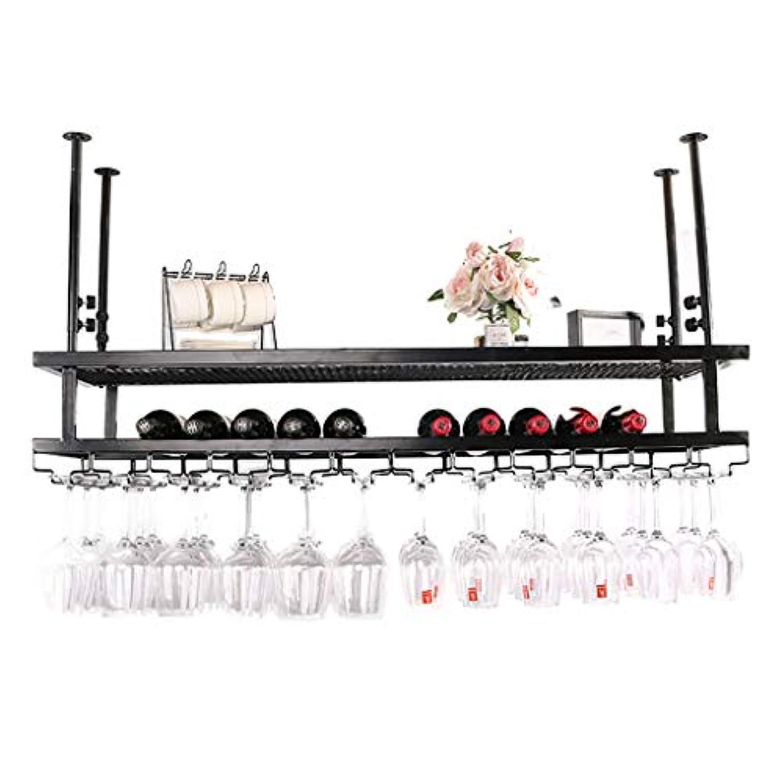 ワイングラスホルダーワインラック上下逆さまサングラス吊り下げフレームワイングラスホルダーキャビネット複数のボトル収納棚家庭用ワインセラーバー (色 : A, サイズ さいず : 100 * 30cm)