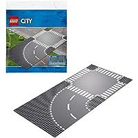 レゴ(LEGO) シティ ロードプレート カーブと交差点 60237 おもちゃ 車