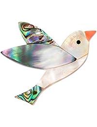 Ruikey 鳥のブローチピン 胸元 中空 動物 ブローチ シェルブローチ コサージュ ブローチ 卒業式 バッジ 人気アクセサリー