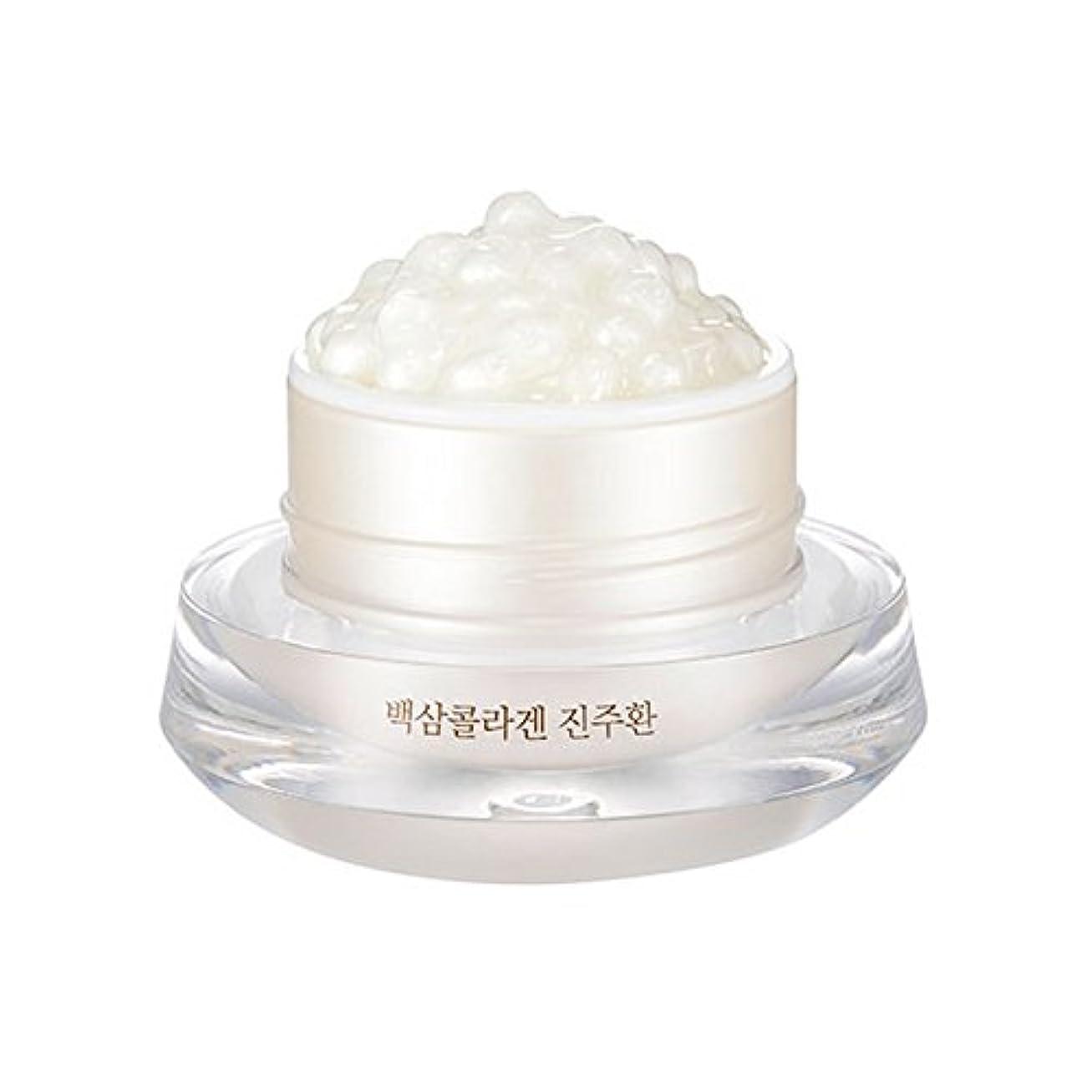 楽しむ小競り合いエキス[ザ?フェイスショップ] The Face Shop 白参 コラーゲン パール カプセルクリーム White Ginseng Collagen Pearl Capsule Cream [並行輸入品]