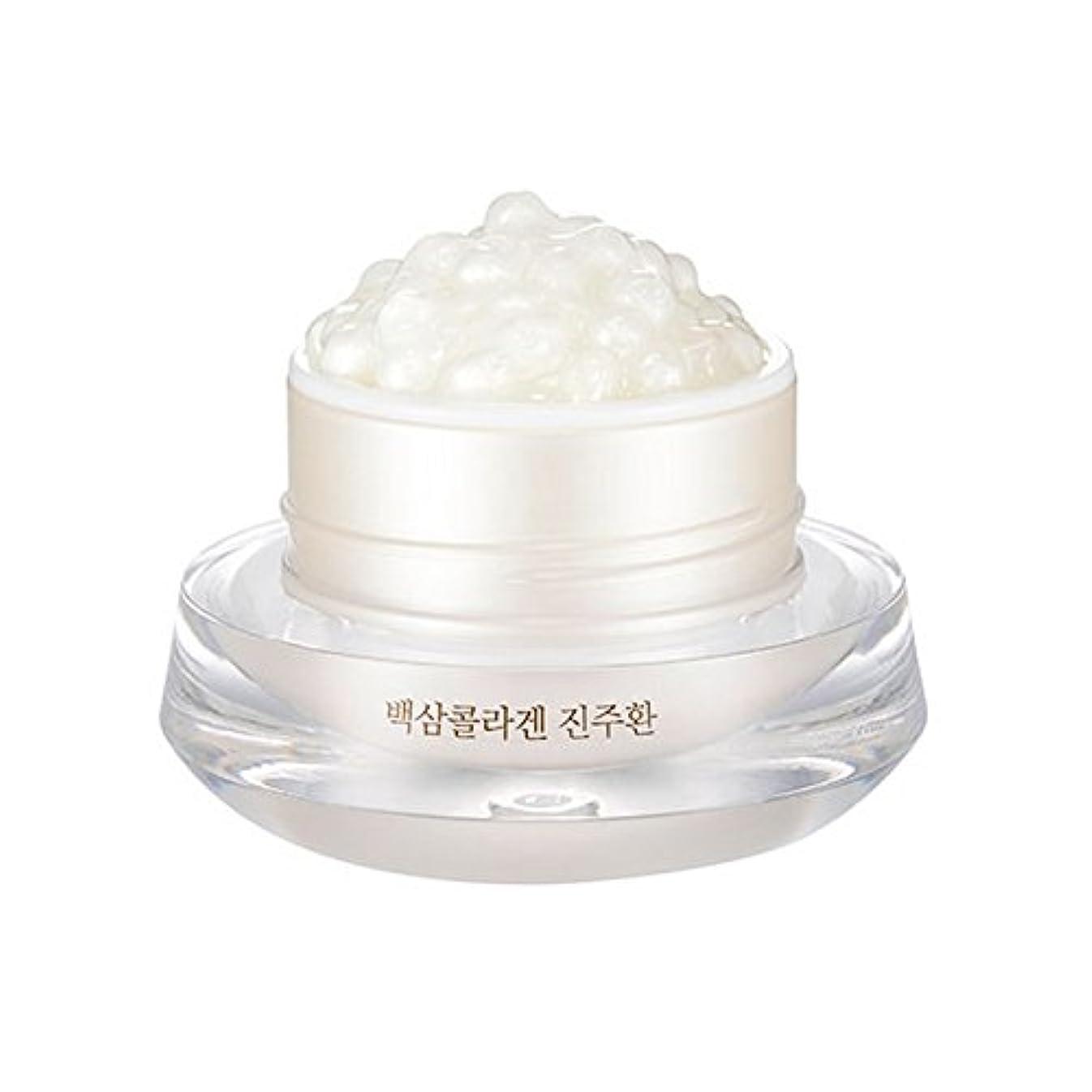 添加剤もしバレーボール[ザ?フェイスショップ] The Face Shop 白参 コラーゲン パール カプセルクリーム White Ginseng Collagen Pearl Capsule Cream [並行輸入品]