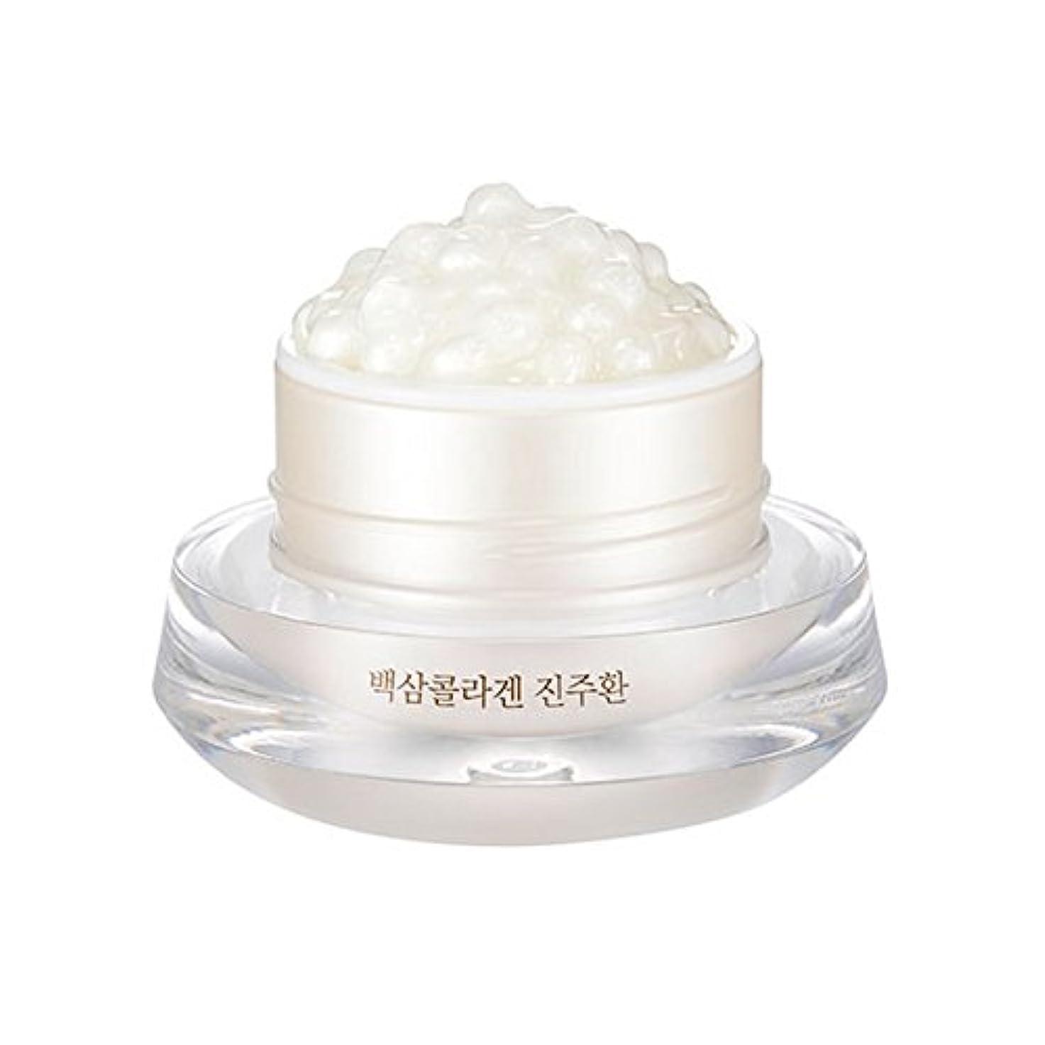 ヒョウ本物の隠す[ザ?フェイスショップ] The Face Shop 白参 コラーゲン パール カプセルクリーム White Ginseng Collagen Pearl Capsule Cream [並行輸入品]