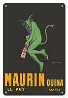 22cm x 30cmヴィンテージハワイアンティンサイン - モーリンQuina - Quininaアペリティフ - グリーン悪魔 - ル?ピュイ、フランス - ビンテージな広告ポスター によって作成された リオネト・カピエロ c.1906