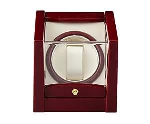 【SKNET】時計巻上/ワインディングマシン KA079RD ウォッチワインダー ワインディングマシーン 自動巻腕時計に (ワインレッド)