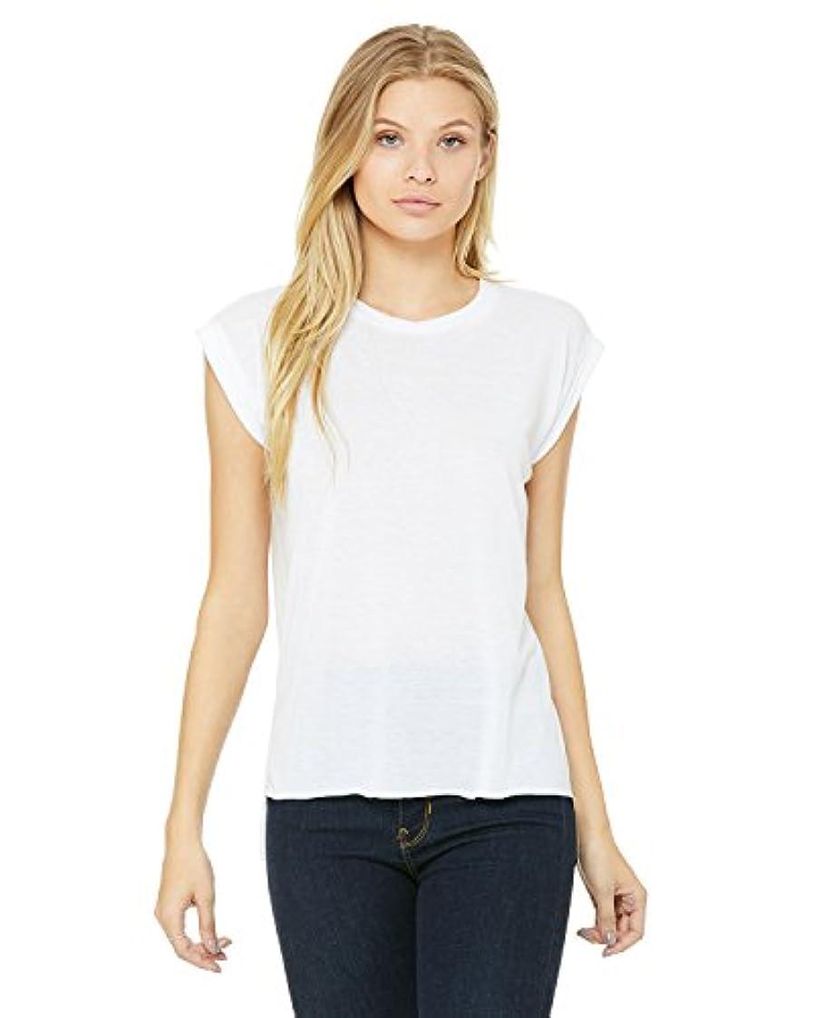 醜い過半数告白Bella + Canvas レディース ゆったりした マッスルTシャツ、圧延カフ付き