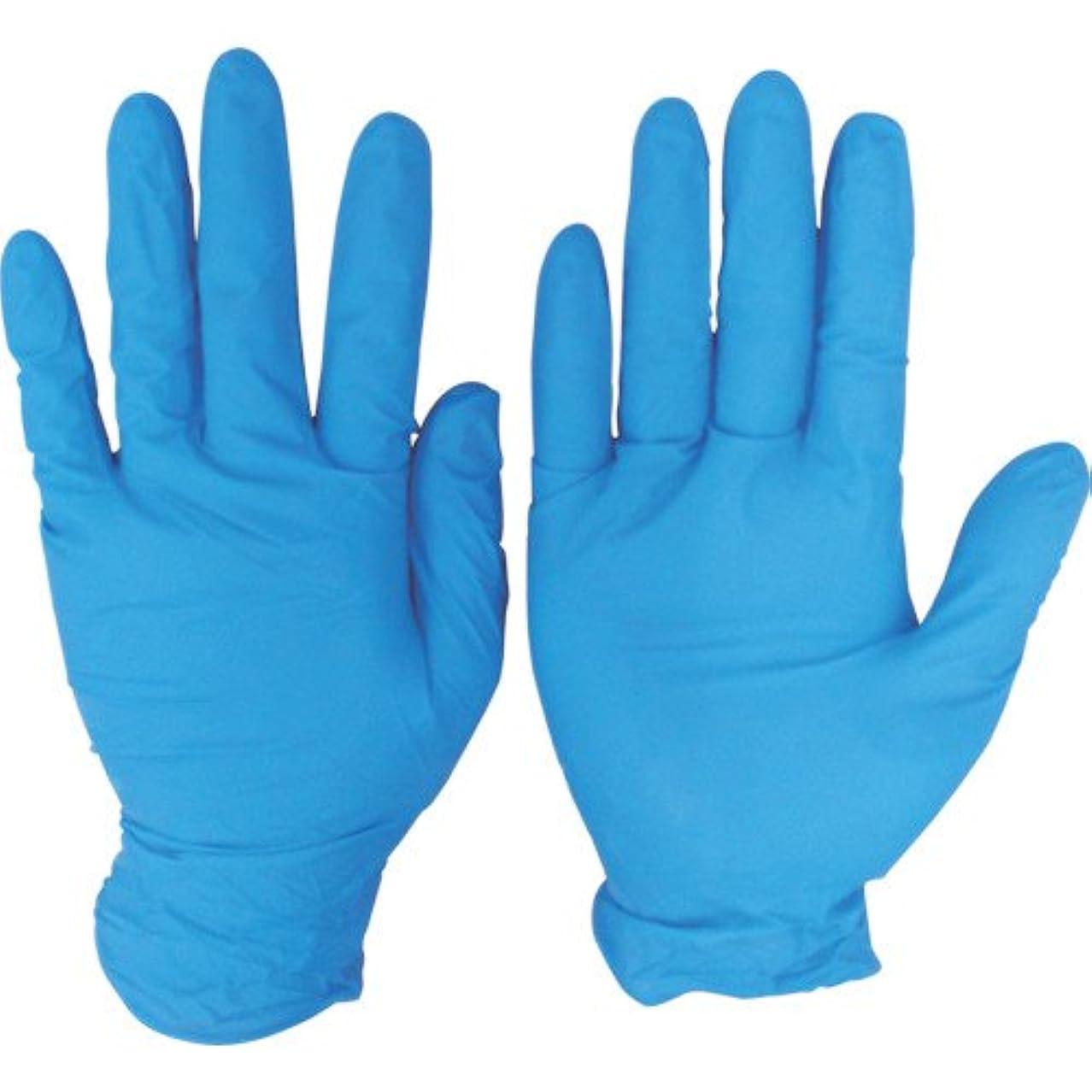 収縮敵対的黒人シンガー ニトリルディスポグローブ(手袋) No.810 ブルー パウダーフリー(100枚) SS