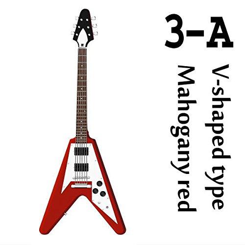 1/12スケール ギターMONO [3-A.Vシェイプタイプ マホガニーレッド](単品)