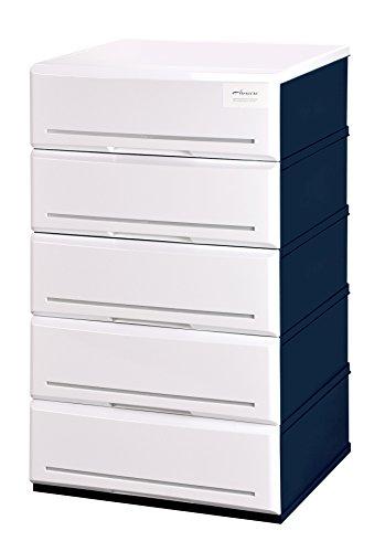 RoomClip商品情報 - アルモアール 収納ボックス 5段 木製天板 W52×D45×H93cm A520-5W