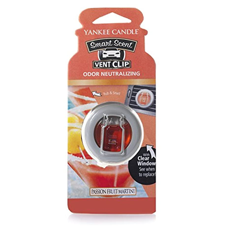 犬レバー有彩色のYankee CandleパッションフルーツMartini Smart Scent Car Vent Clip Air Freshener 1351862