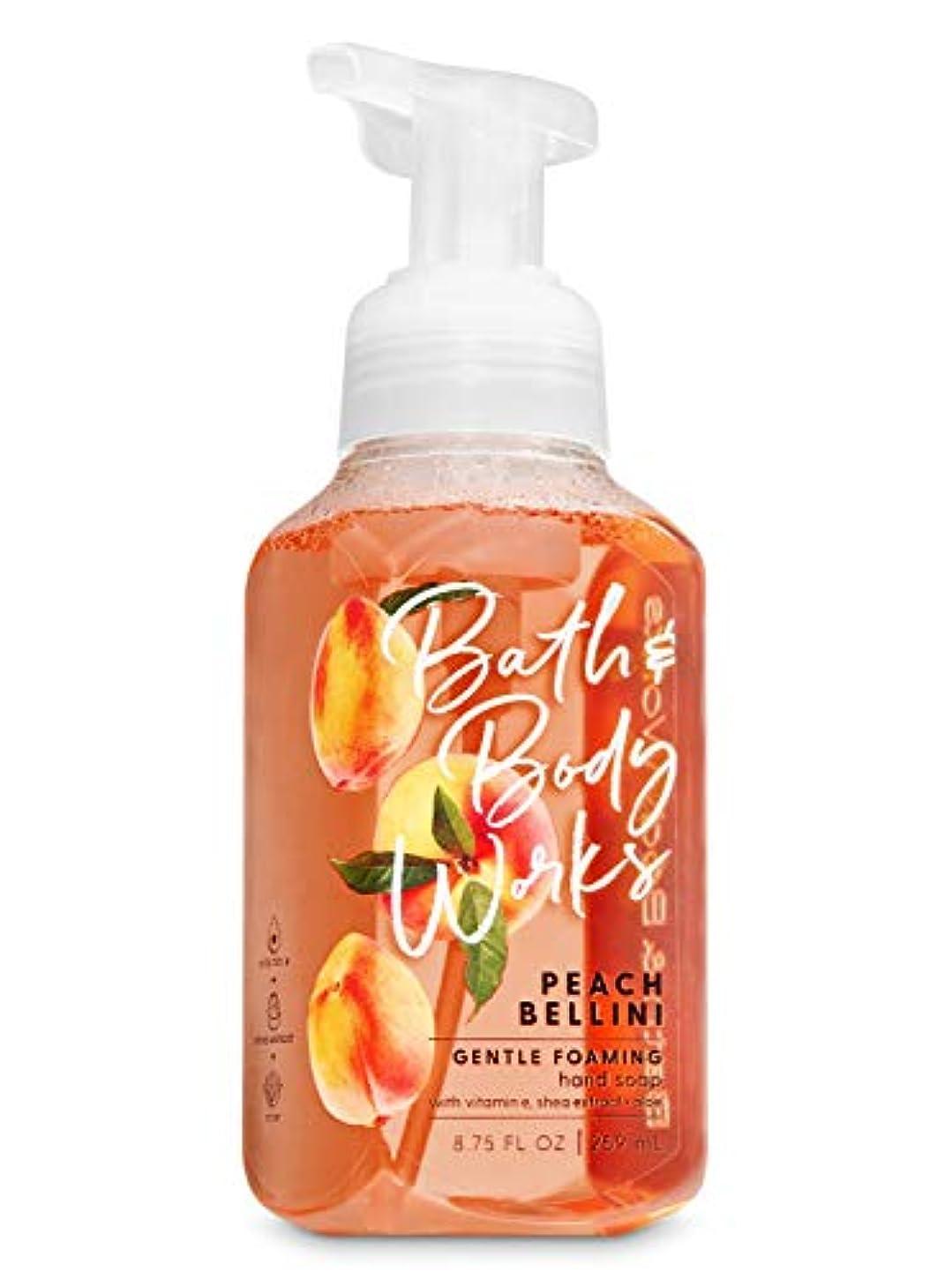 論争の的ポーチ形容詞バス&ボディワークス ピーチベリーニ ジェントル フォーミング ハンドソープ Peach Bellini Gentle Foaming Hand Soap