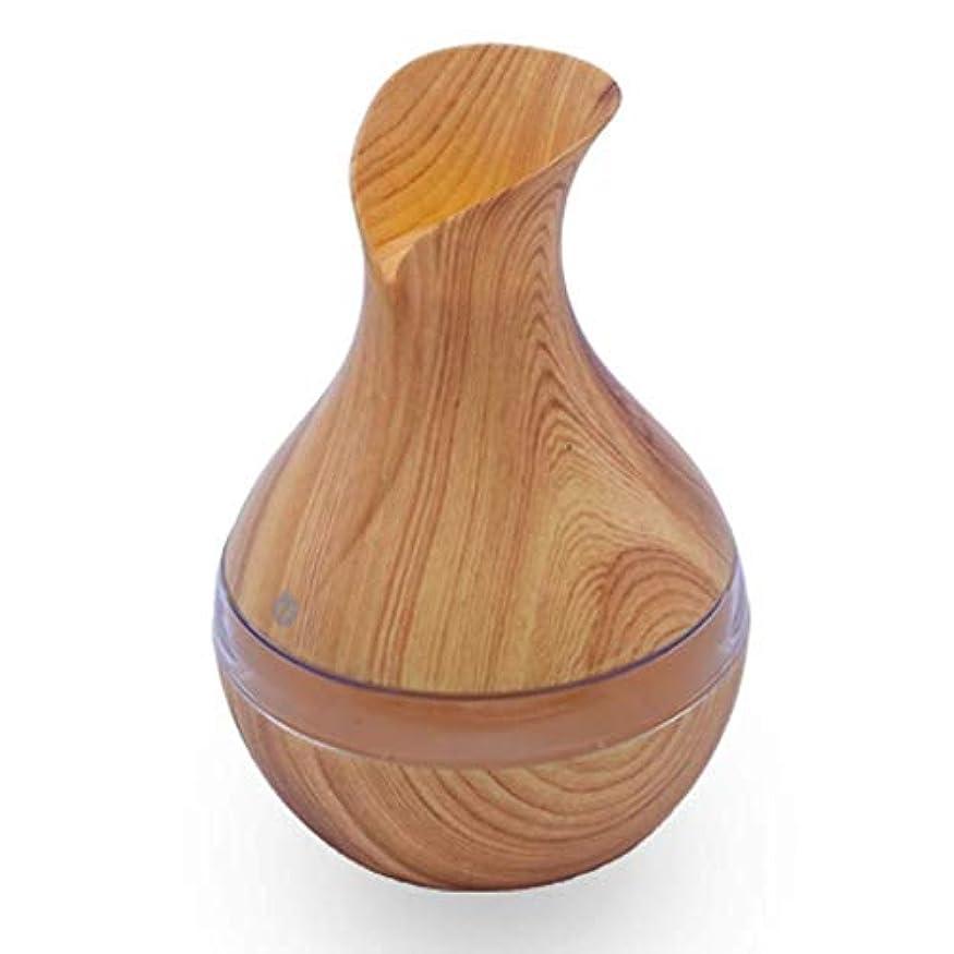 避難する非互換機構オイルディフューザーエッセンシャルオイル300ミリリットルエッセンシャルオイルディフューザー電気超音波加湿器アロマウォーターレスオートオフ空気清浄機 (Color : Light Wood Grain)