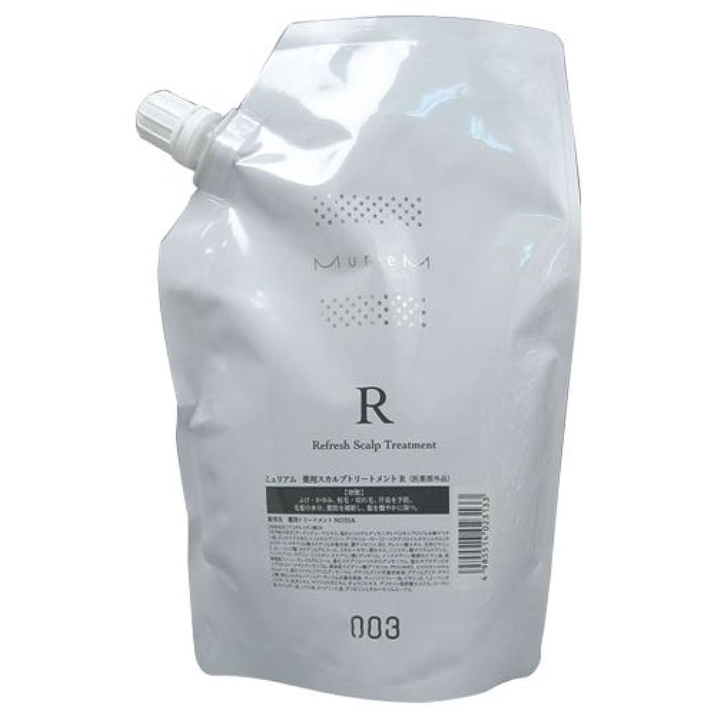 政策重要な石鹸ナンバースリー ミュリアム 薬用スカルプトリートメントR 500g レフィル