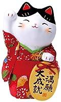 錦彩ちりめん小判招き猫(満願・大)[高さ 14cm][陶器・錦彩仕上] | 招き猫 縁起物 開運