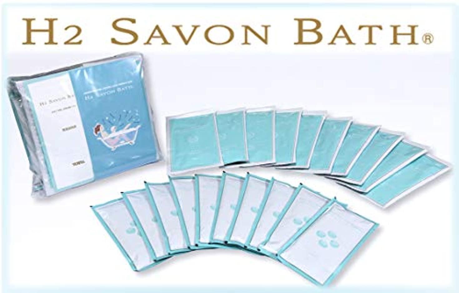 罹患率スプーン豊富H2 SAVON BATH(水素シャボンバス) 【1回分350円 徳用10回分入?専用ケース無し】