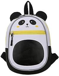 子供のための幼児のバッグベビーボーイズのリュック、リーシュの安全ハーネス、子供のバックパックの漫画のスクールバッグウサギのパンダペンギンのオウルの印刷 ( 色 : ブラック )