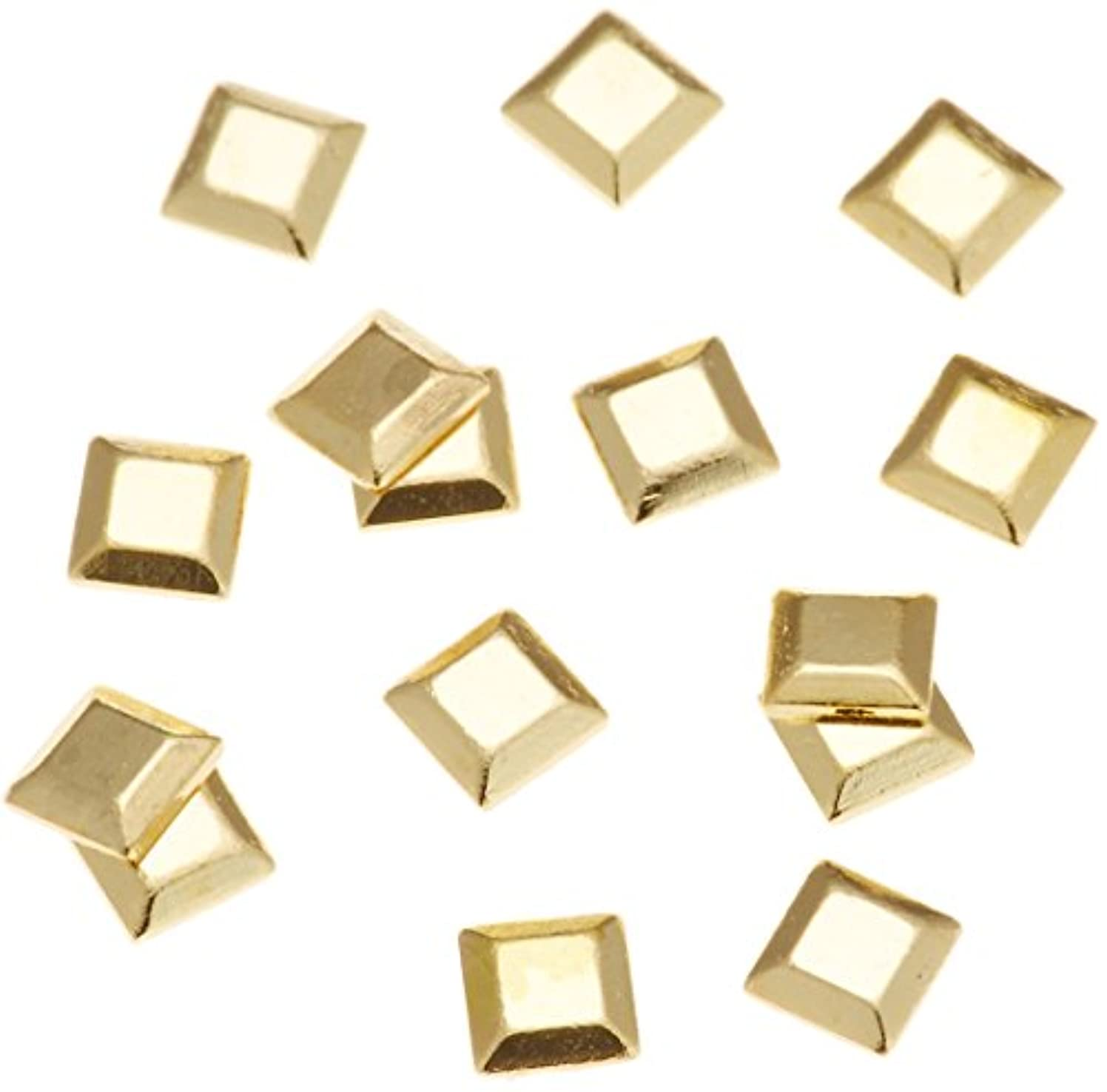 戸棚食べるソースリトルプリティー ネイルアートパーツ スタッズスクエア ゴールド 200個