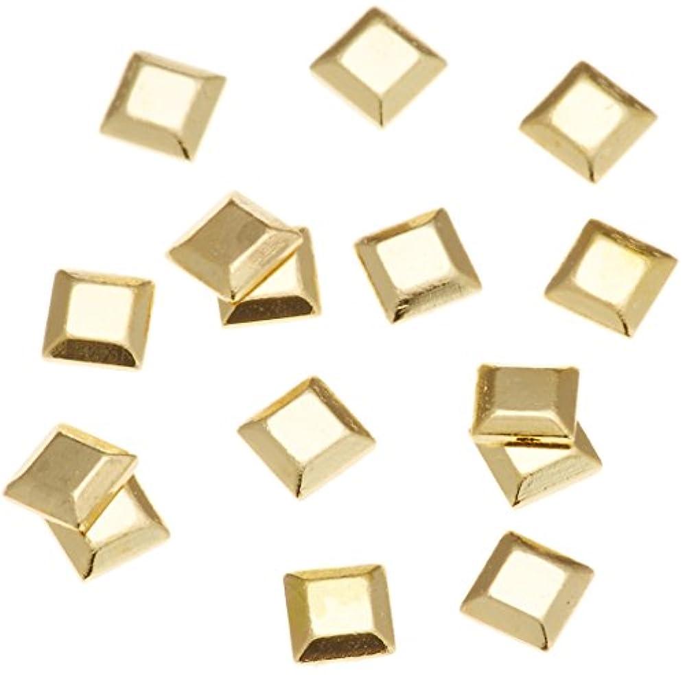 脇に義務的キャビンリトルプリティー ネイルアートパーツ スタッズスクエア ゴールド 200個
