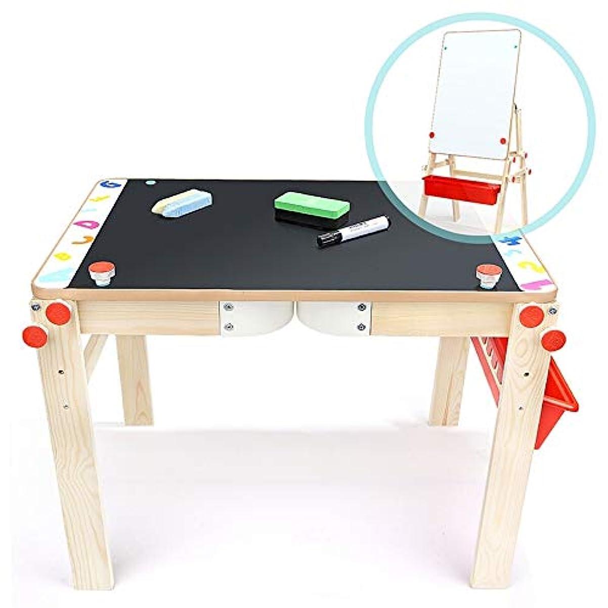 もう一度卒業謝るお絵かきボード 子供 イーゼル木製ボード黒板高さ調節可能なアートイーゼル製図板を塗装子供 (Color : One color, Size : One size)