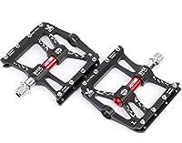 """Alston Bike MTBペダル、超強力CR-MO材質9/16""""スピンドル、アルミニウム6061#CNCブラックボディ、CR-MOスピンドル、3個超密封ベアリング"""