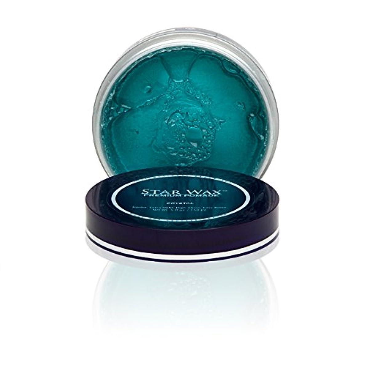 ラップマスク追い越すStar Wax   Premium Pomade, Crystal(スターワックスプレミアム ポマード「クリスタル」)?Star Pro Line(スタープロライン)製?5(液量)オンス/150ml