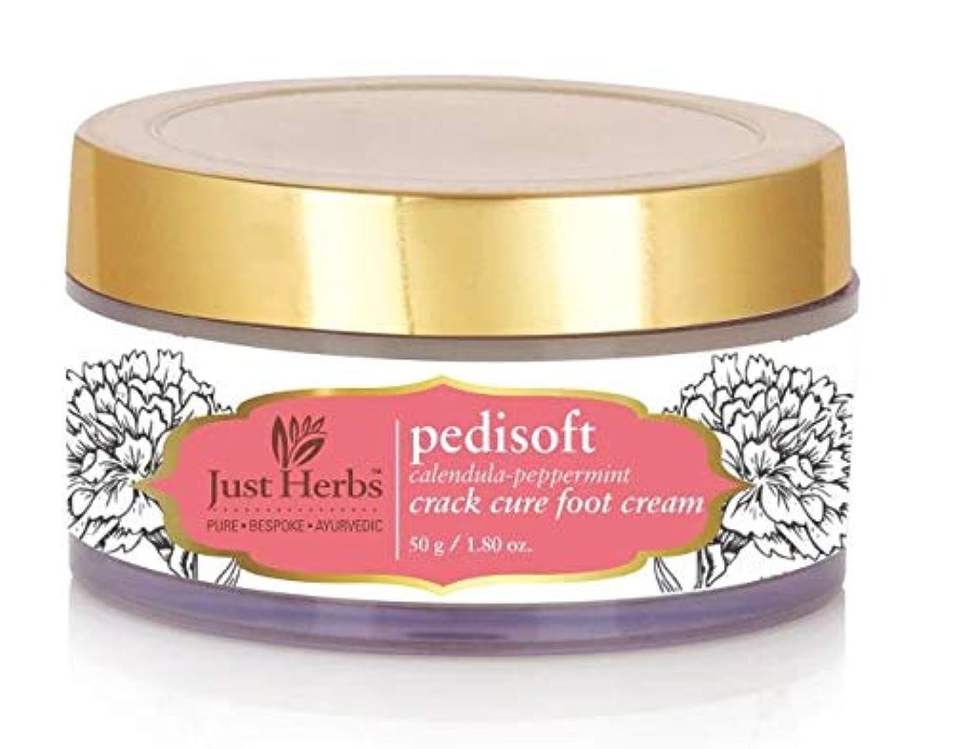 未使用しょっぱい浸したJust Herbs Pedisoft Crack Care Foot Cream - 50gm