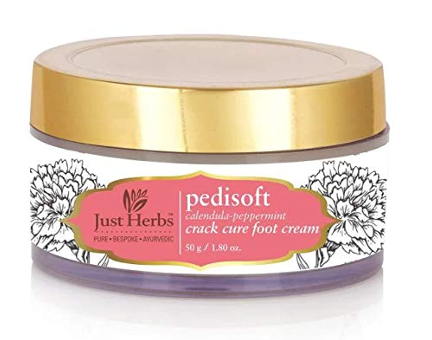 電気的センサー押すJust Herbs Pedisoft Crack Care Foot Cream - 50gm