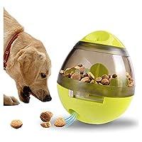 自動給餌器 Polarmarker 犬 猫 食器 ペット おもちゃ 玩具ボール 倒れないエッグ 餌入れ 食器 早食い防止 噛むおもちゃ (グリーン)
