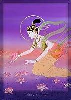 石家~ユニバーサルマインド~陶彩画観音力カード_11 「花まつり」:陶彩画家:草場一壽