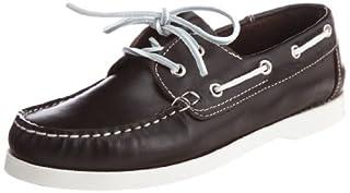 Leather Boat Shoe 1431-343-4209: Dark Brown