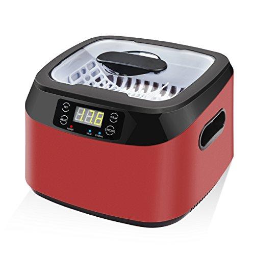 Fochea 超音波洗浄器 5段階タイマー 1.2L 70/35W タッチパンネル式 メガネ、アクセサリー、果物、小物洗浄 メガネクリーナー PSE認証済み