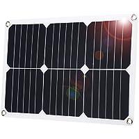 suaoki ソーラーパネル ソーラーチャージャー 18W DC18V出力 高効率 超薄型 ポータブル 防水 ソーラー充電 自動車 オートバイ トラクターなど バッテリーへの補充電